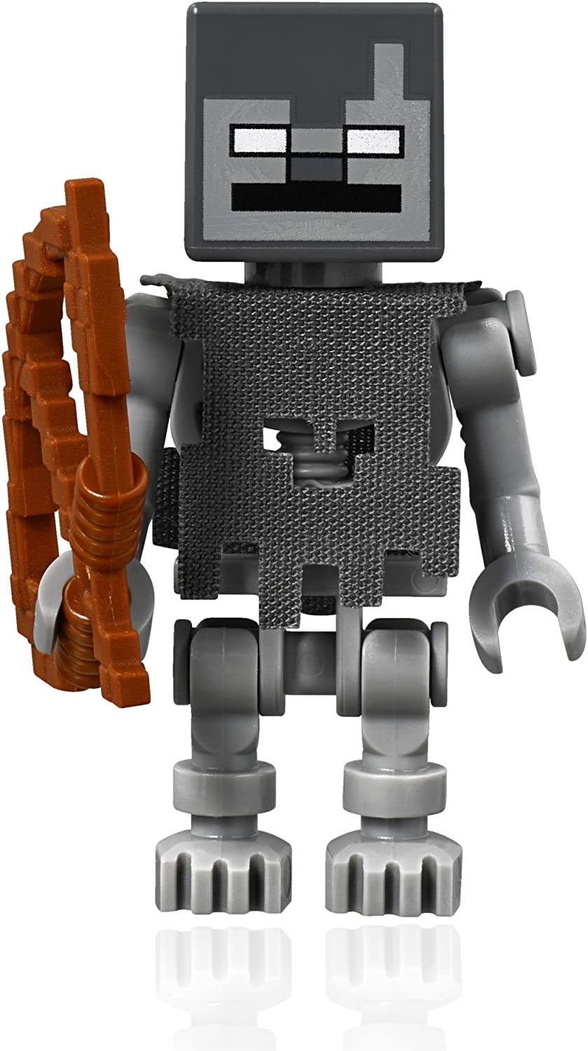 LEGO Minecraft Minifigure - Stray The Skeleton with Cube Skull (21142)