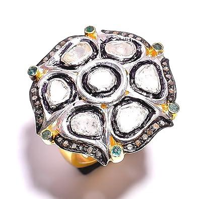 Buy Divya Gin Rose Cut Diamond Pave Victorian Jewelry 925