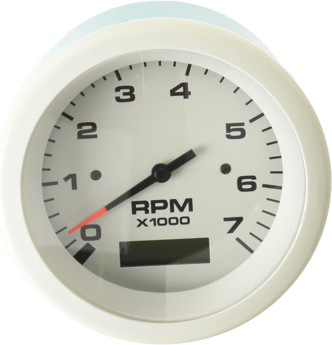 Sierra International 69044P 0-7000 RPM Dial Range Amega Domed Electric Tachometer for Force Engines 3 3 Teleflex