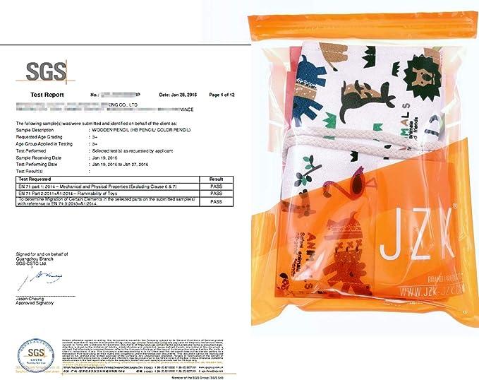 JZK 36 L/ápices de colores l/ápiz de dibujo con estuche enrollable lona portal/ápices cumplea/ños navidad regalo Ideal para artistas adultos y ni/ños