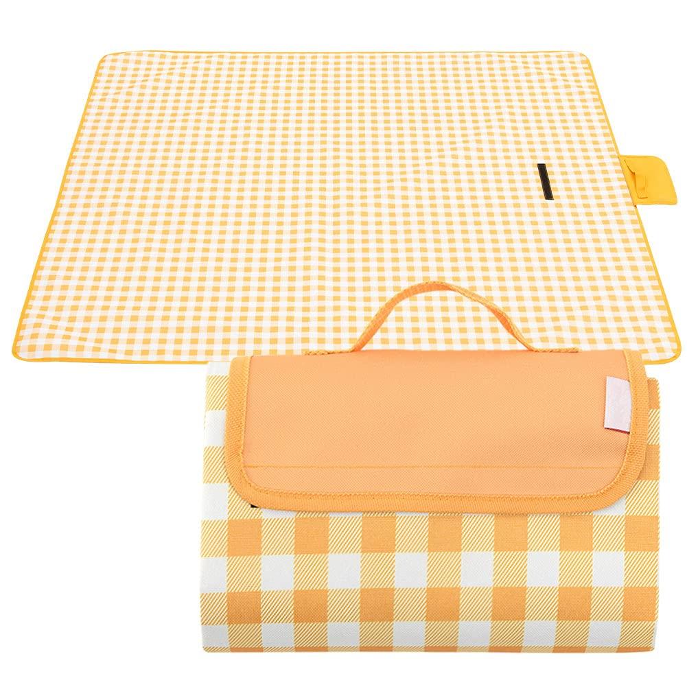WAZATE Large Waterproof Outdoor Picnic Blanket Sandproof Beach Blanket Durable Oxford Folding
