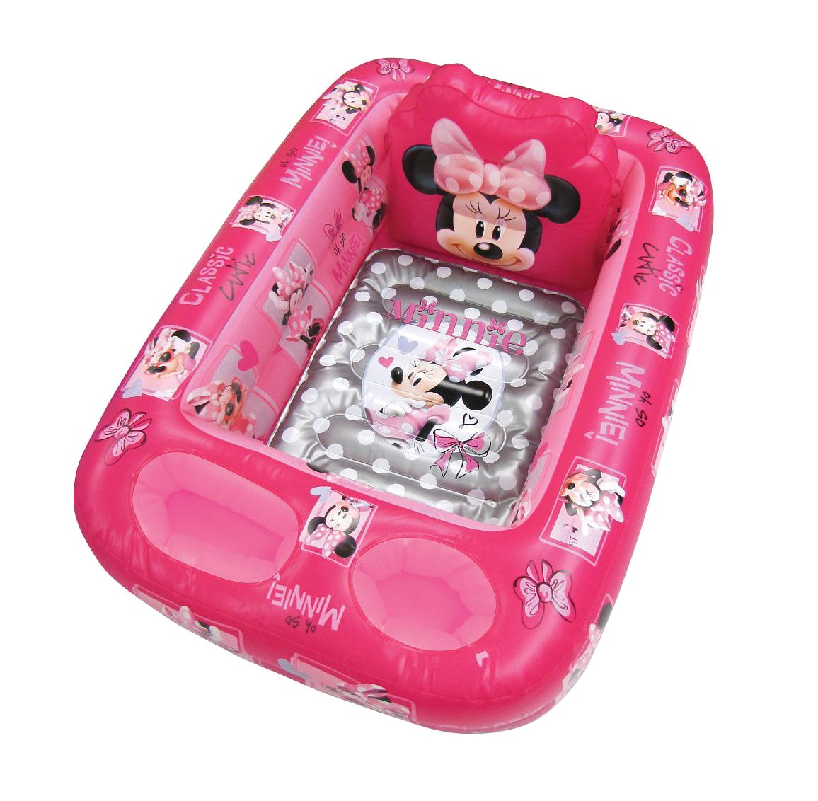 Amazon.com : Disney Minnie Mouse Inflatable Safety Bathtub, Pink : Baby