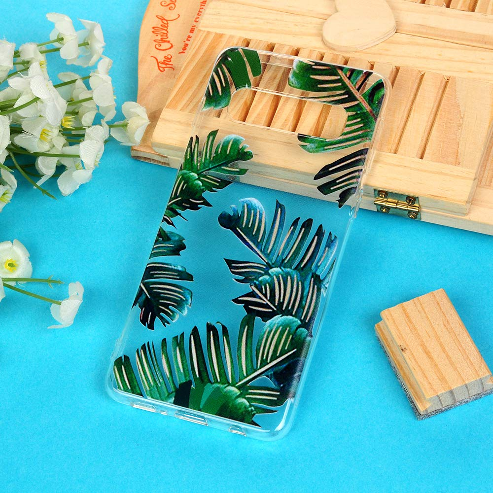 Galaxy S10 Case, Cover Ultra Slim HD Clear & Full TPU Soft Frame Hybrid Shockproof Bumper Drop Pretective Skin Shell for Galaxy S10, Banana Leaf by SUPWALL (Image #8)