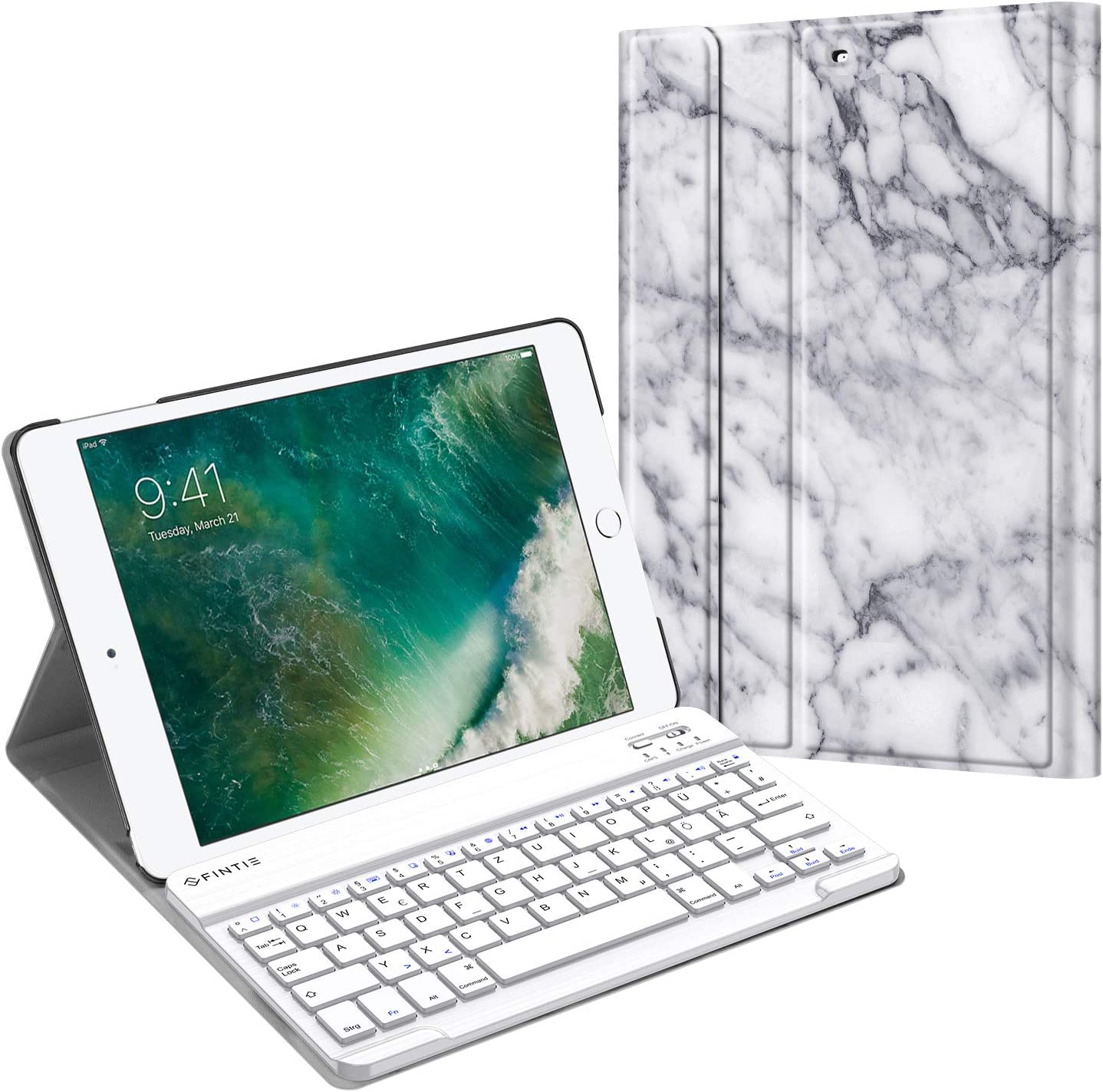 Funda con teclado para iPad 9.7 2018 2017 / Air 1 & 2 (QV4Z)