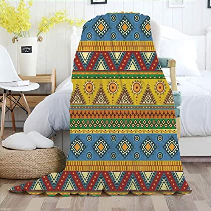 fb931bc2d Aztec,Throw Blankets,Flannel Plush Velvety Super Soft Cozy Warm with/Traditional  Classic