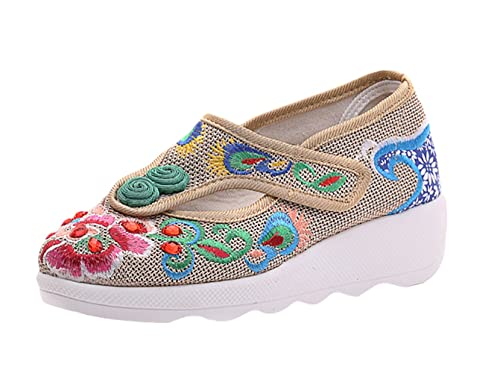 Insun Zapatos de Mujer con Bordado Mocasines: Amazon.es: Zapatos y complementos