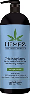 product image for Hempz Triple Moisture-Rich Daily Herbal Replenishing Shampoo, Pearl Blue, Enchanted Grapefruit, 33.8 oz. - Hair Thickening Agent for Women and Men, All Natural, Proven Hydrating Shampoos