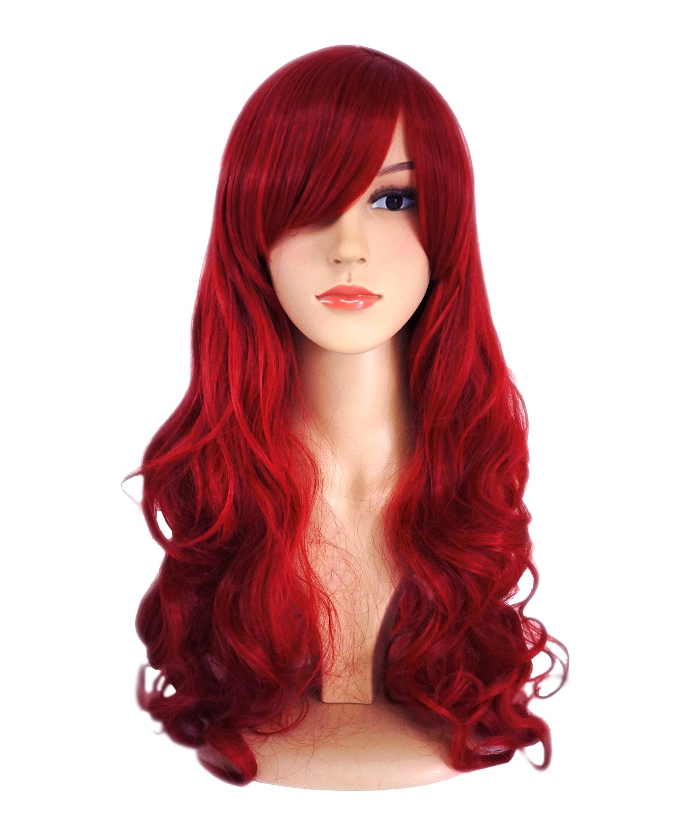 Another Me Wig Women's Long Big Wavy Hair 25 Inches Dark Wine Red Ultra Soft Heat Resistant Fiber Party Cosplay Accessories by ANOTHERME
