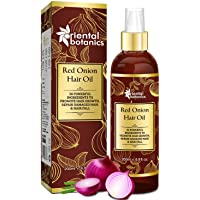 Oriental Botanics Red Onion Hair Growth Oil, 200ml - with 30 Oils & Extracts for...