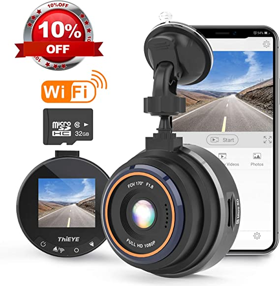 THiEYE Dash Cam WiFi
