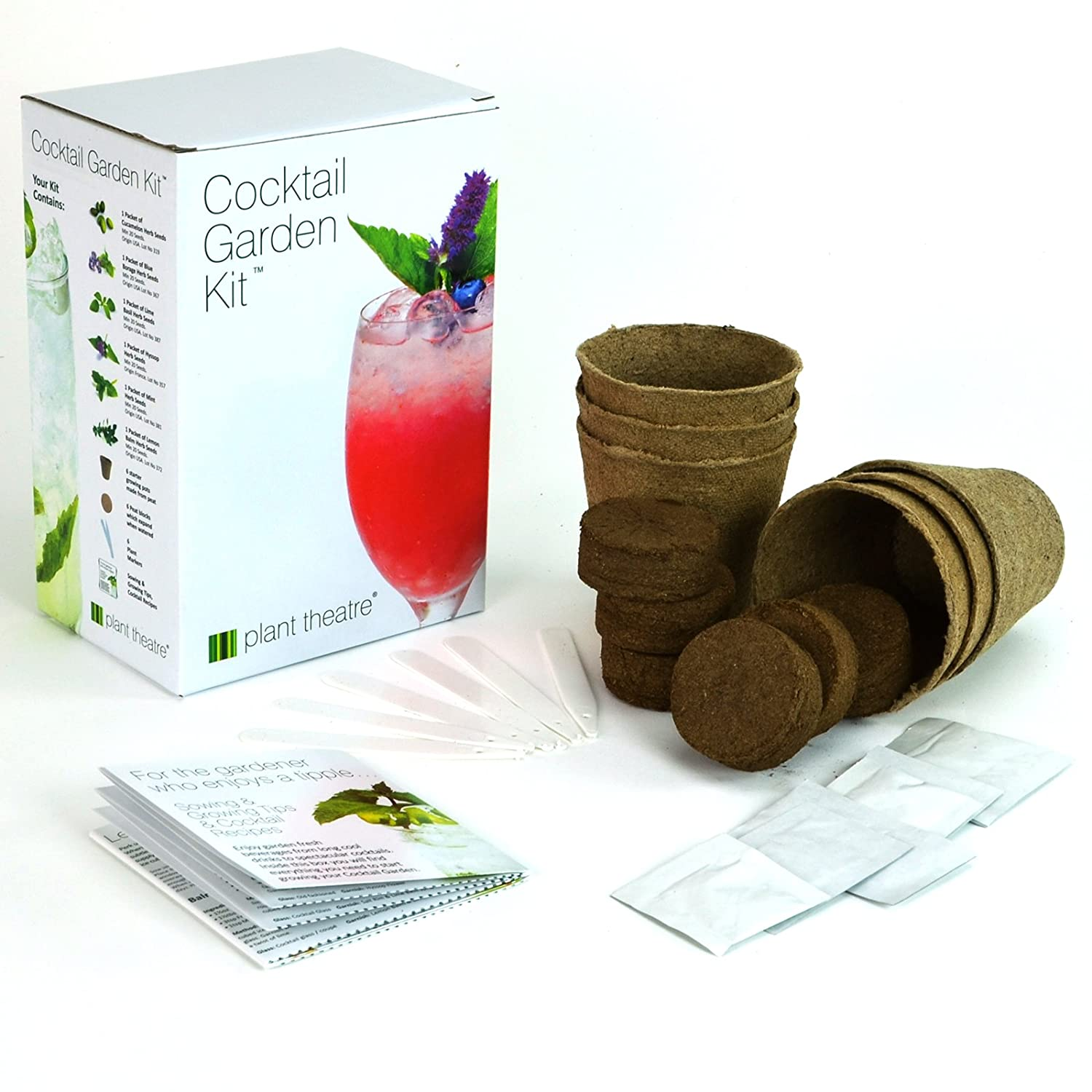 amazon com plant theatre cocktail garden kit 6 varieties to