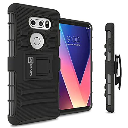 Amazon.com: LG V30 Holster Case, coveron Explorer Series ...