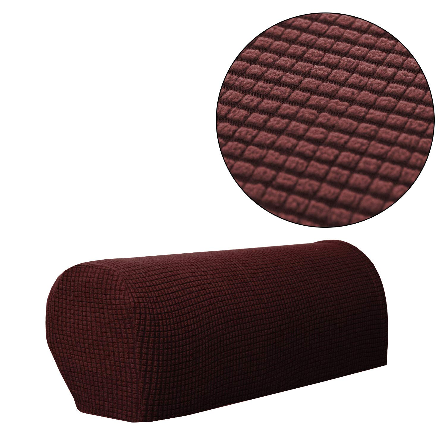 Sofa Armrest Cover Stretch Armchair Slipcover Furniture Armrest Protector For Sofa Chair Recliner Couch Loveseat Set Of 2 Brown