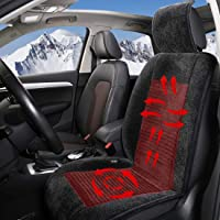 Big Hippo Universal 12V Car Deluxe Velour Heated Car Seat Cushion