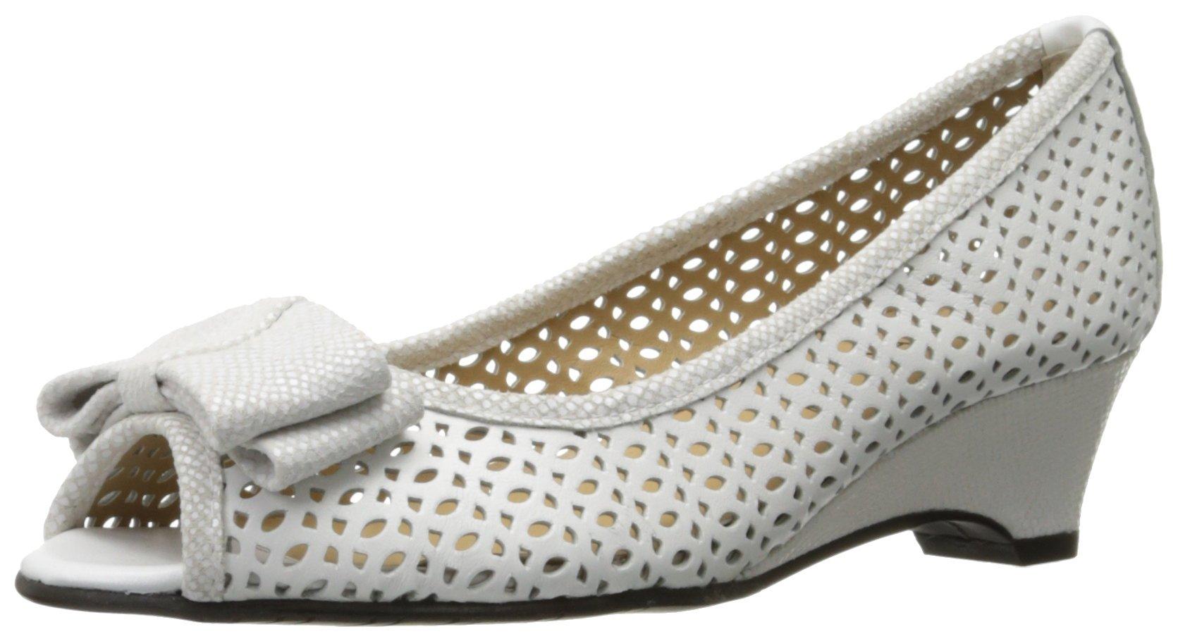 VANELi Women's Brinly Wedge Sandal, White Perfed Nappa/White Summer VIP, 7.5 N US