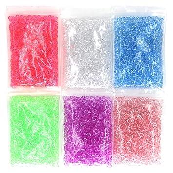 Perlas de Pecera para crujientes Slime, Colorful 12 onzas pecera Slime perlas jarrón para cuentas