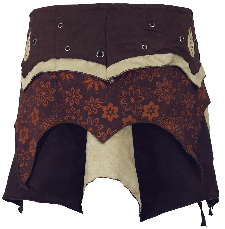Goa Mini Skirt Cacheur Gonna Elf Wrap Skirt Gonne Corte GURU-SHOP Cotone