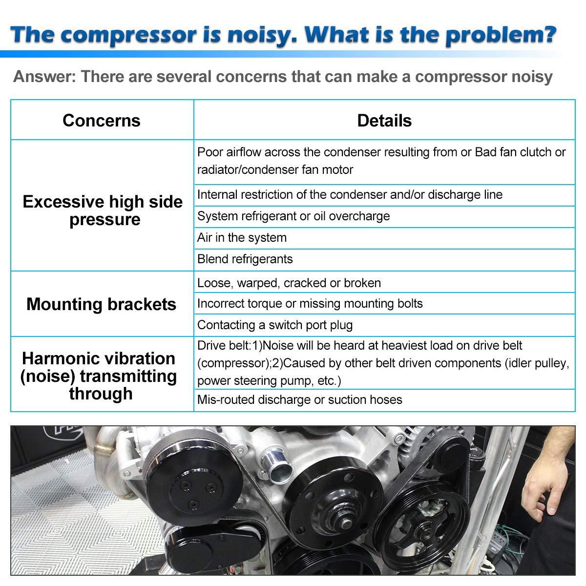 AUTEX AC Compressor & A/C Clutch CO 20446C 67291 Replacement for Chevrolet  S10 1998 1999 2000 2001 2002 2003 2 2L/GMC Sonoma 1998 1999 2000 2000 2001
