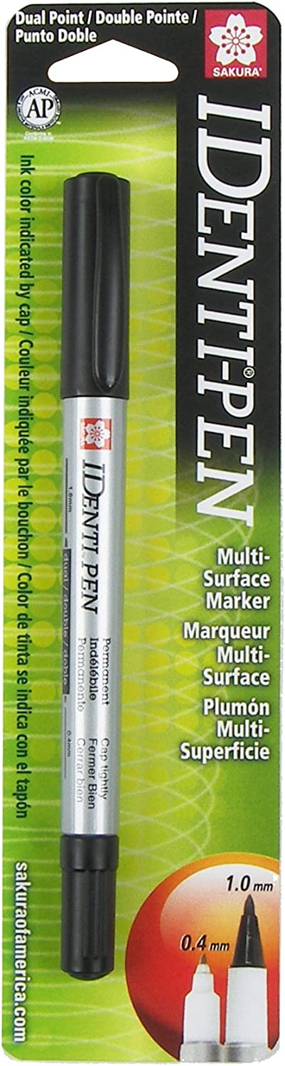 Sakura 44181 Identi-Pen Blister Card Permanent Marker, Black