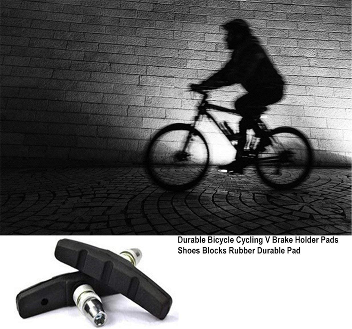 Schwarz IFEN Durable Bicycle Cycling Bike V Bremsbel/äge Schuhbl/öcke Black Rubber Durable Pad F/ür lang anhaltende Leistung