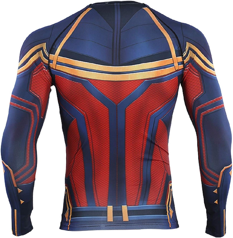 COOLMAX Captain 3D Print T shirs Mens Compression Shirt Raglan Sleeve Long Sleeve Tops
