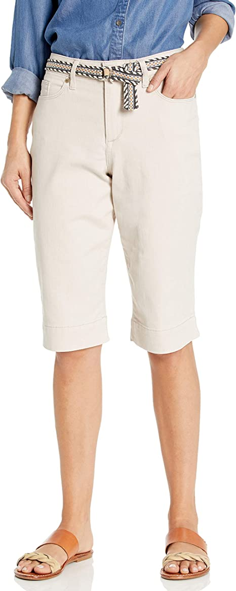 RIDERS by LEE WOMEN/'S MID RISE SHORTS SIZE 14 PEACH COLOR WITH WOVEN BELT