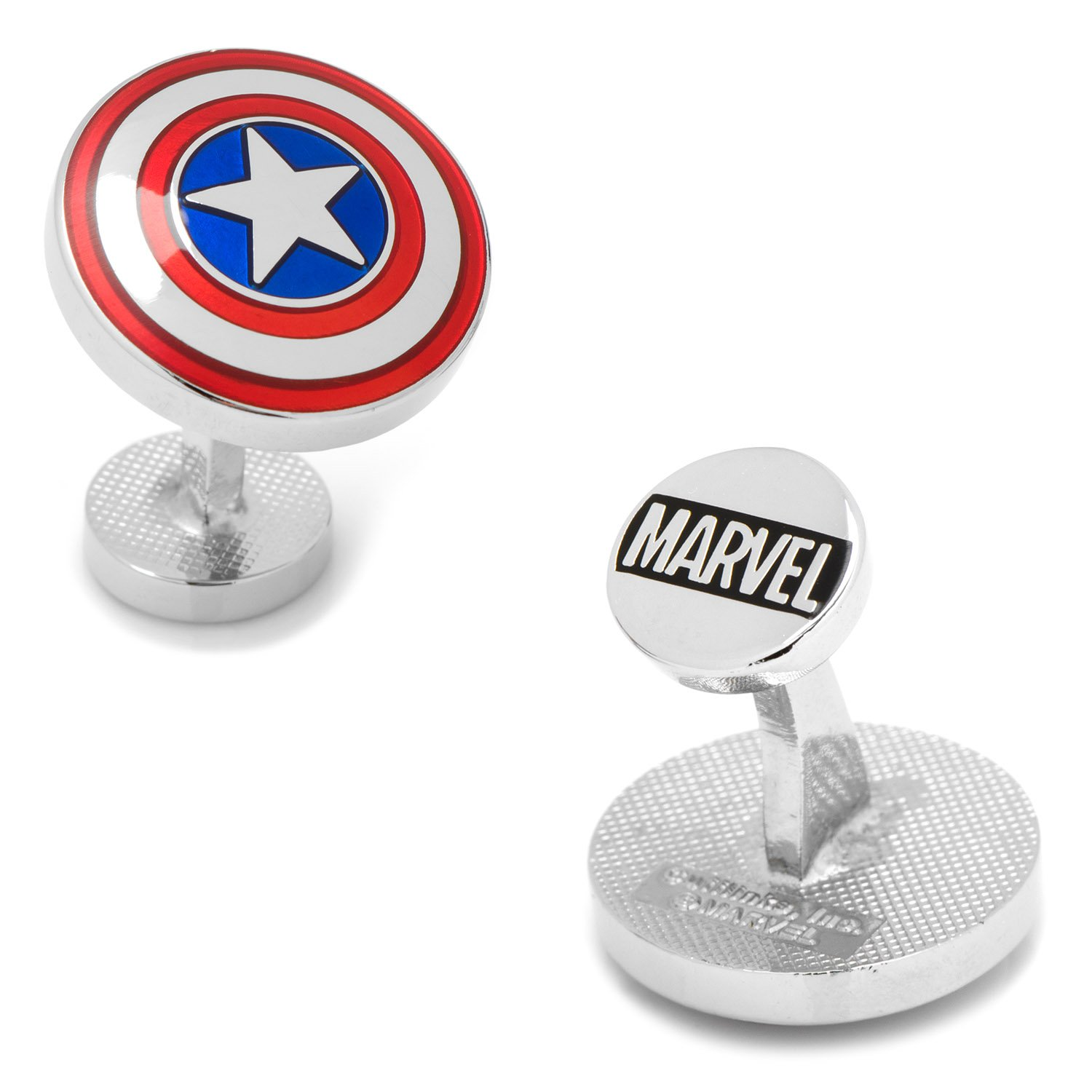 Cufflinks Marvel Avengers Captain America Shield, Officially Licensed