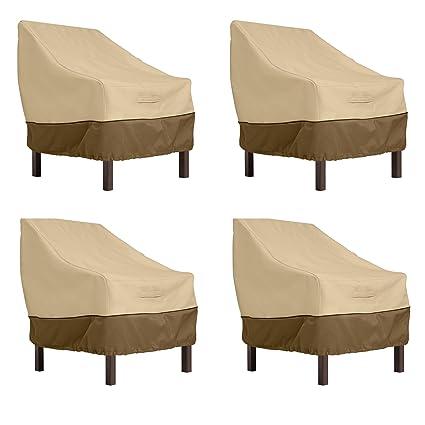 8783639fb42 Amazon.com   Classic Accessories Veranda Standard Dining Patio Chair Cover  (4-Pack)   Garden   Outdoor