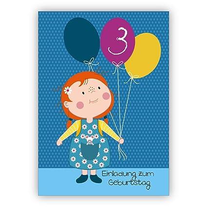 nette invitaciones para 3. Cumpleaños infantiles con pequeño ...