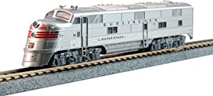 Kato USA Model Train Products N EMD E5A Red Band CB&Q #9911A Operating Locomotive Model