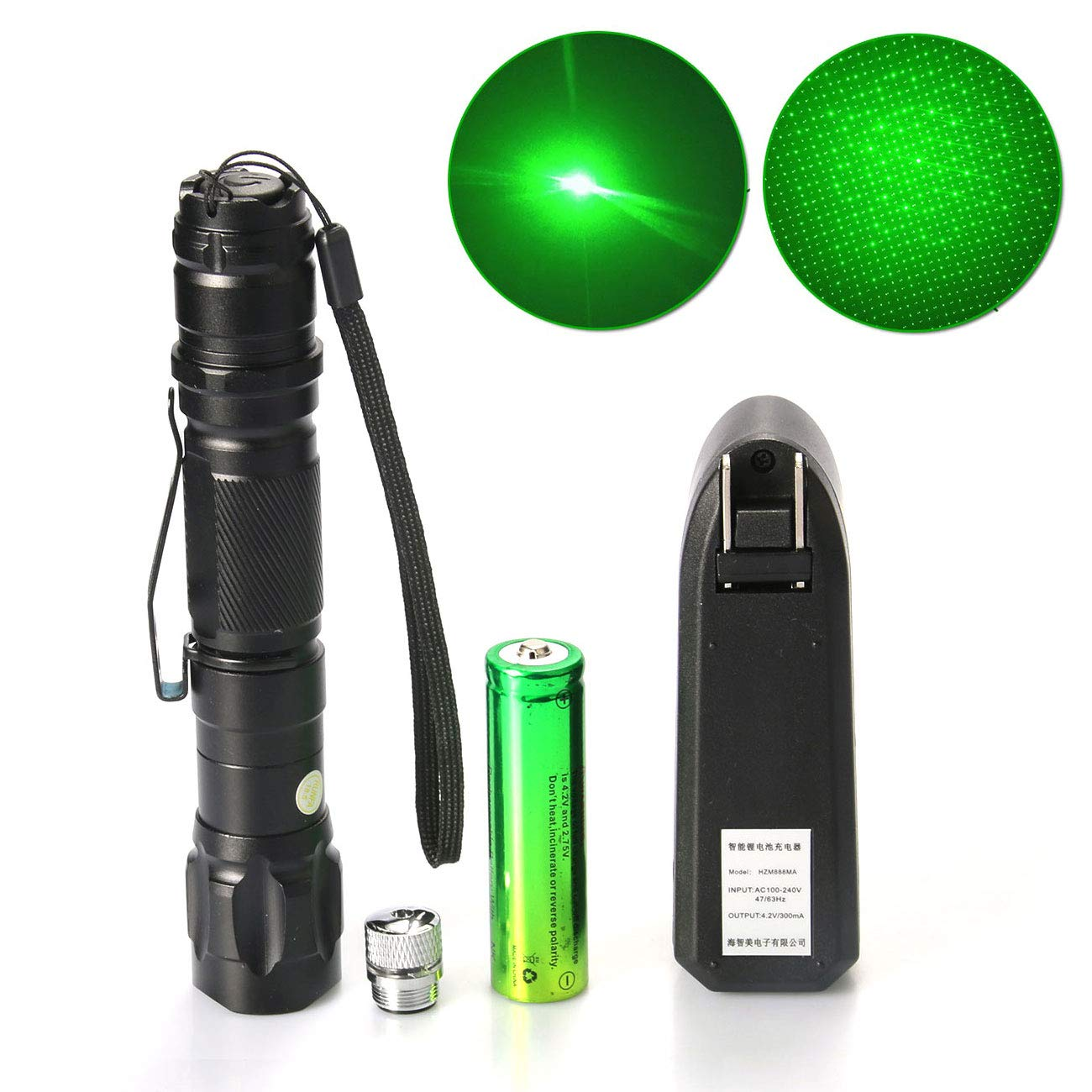Green Laser Pointer Pen Visible Beam Light 532nm Military Flashlight Pointer Pen Green Laser Pointer With Star Cap Home