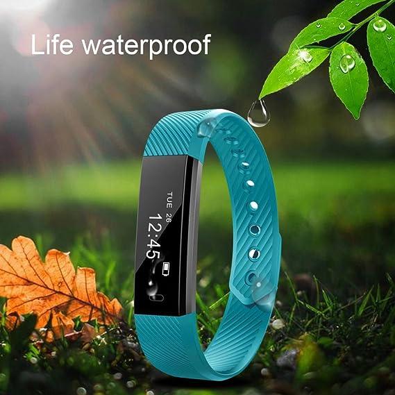 Rastreador de aptitud SmartBand Ritmo cardíaco Monitor de presión arterial Reloj Caminar Contador de sueño Pulsera inalámbrica Podómetro Rastreo de ...