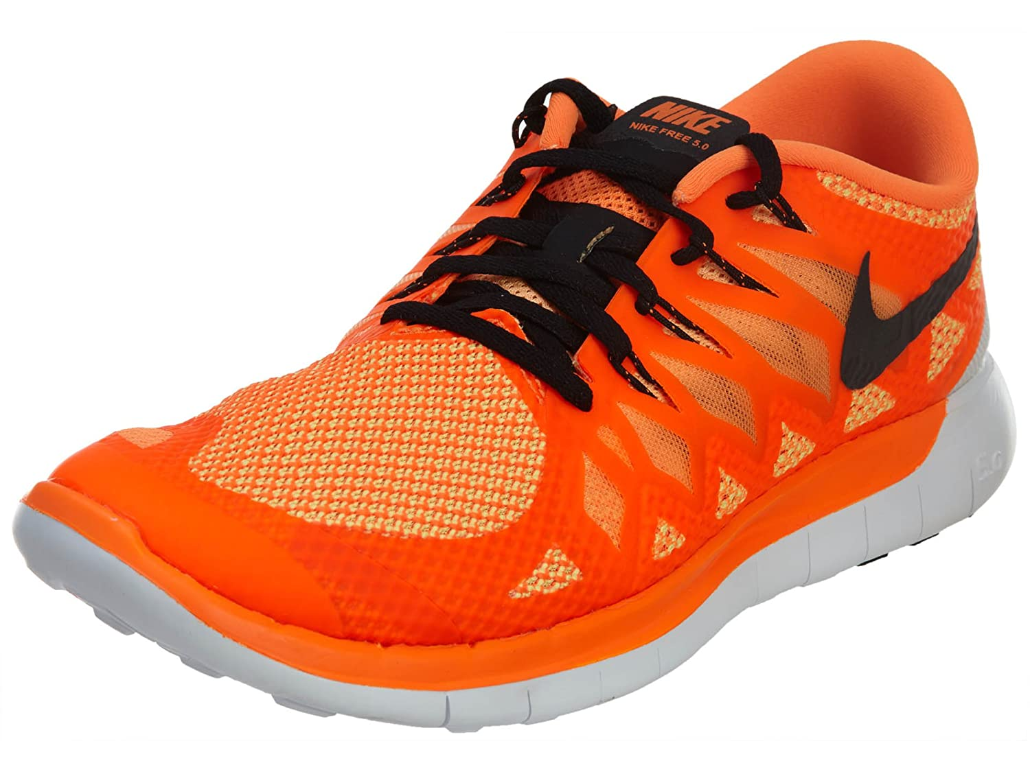 hot sale online 56352 6372b Nike Free 5.0 Men's Running Shoes Sneakers Total Orange/Black-Bright Ctrs  11 D(M) US: Buy Online at Low Prices in India - Amazon.in