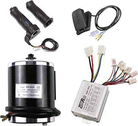 Details about  /Brush 500W 24V Electric Speed Motor kit Controller Throttle Grip Pedal Scooter