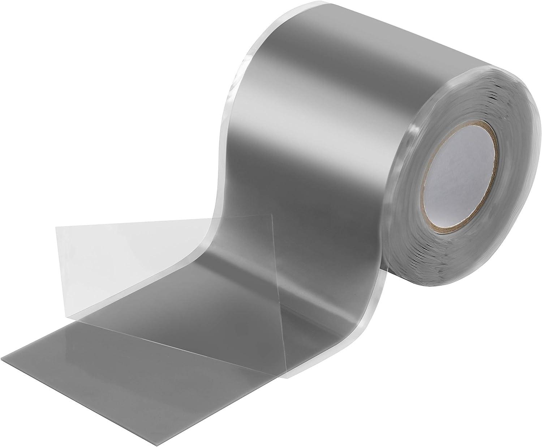 Poppstar - Cinta de silicona de autofusión, 1 x 3 m, ideal como cinta de reparación, cinta aislante y cinta de sellado (estanca, hermética), 50mm de ancho, color gris