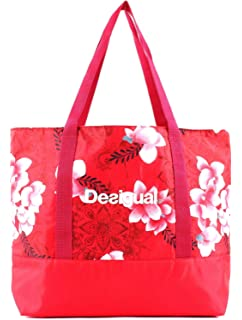 Desigual Hindi Dancer Victoria Gym Bag Poppy Coral  Amazon.de ... 058fe0a1a41b0