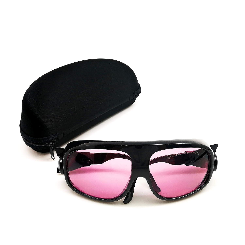 MCWlaser Gafas protectoras de seguridad láser Gafas 750-850 y 765-830nm Típico para 755nm 808nm Tipo de absorción EP-18 Estilo 11