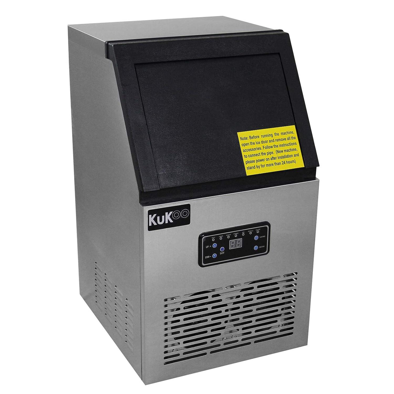 KuKoo - Maquina de Hielo Comercial Acero Inoxidable 40kg/24hr Fabricar Hielo para Bar, Restaurante: Amazon.es: Grandes electrodomésticos