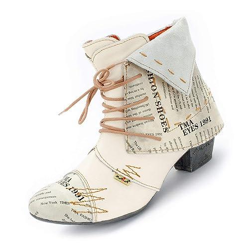 430697e401901f TMA Damen Stiefeletten 6106 Echtleder  Amazon.de  Schuhe   Handtaschen
