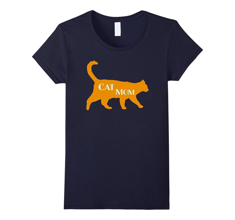 Cute Cat Mom Quote Pet Owner Mum Orange Cat Lover T Shirt