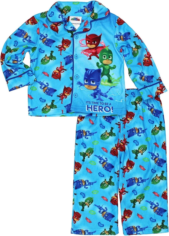 5Y Pyjama Set 18M PJ Masks Kids Childrens Boys Novelty 2 Piece PJ