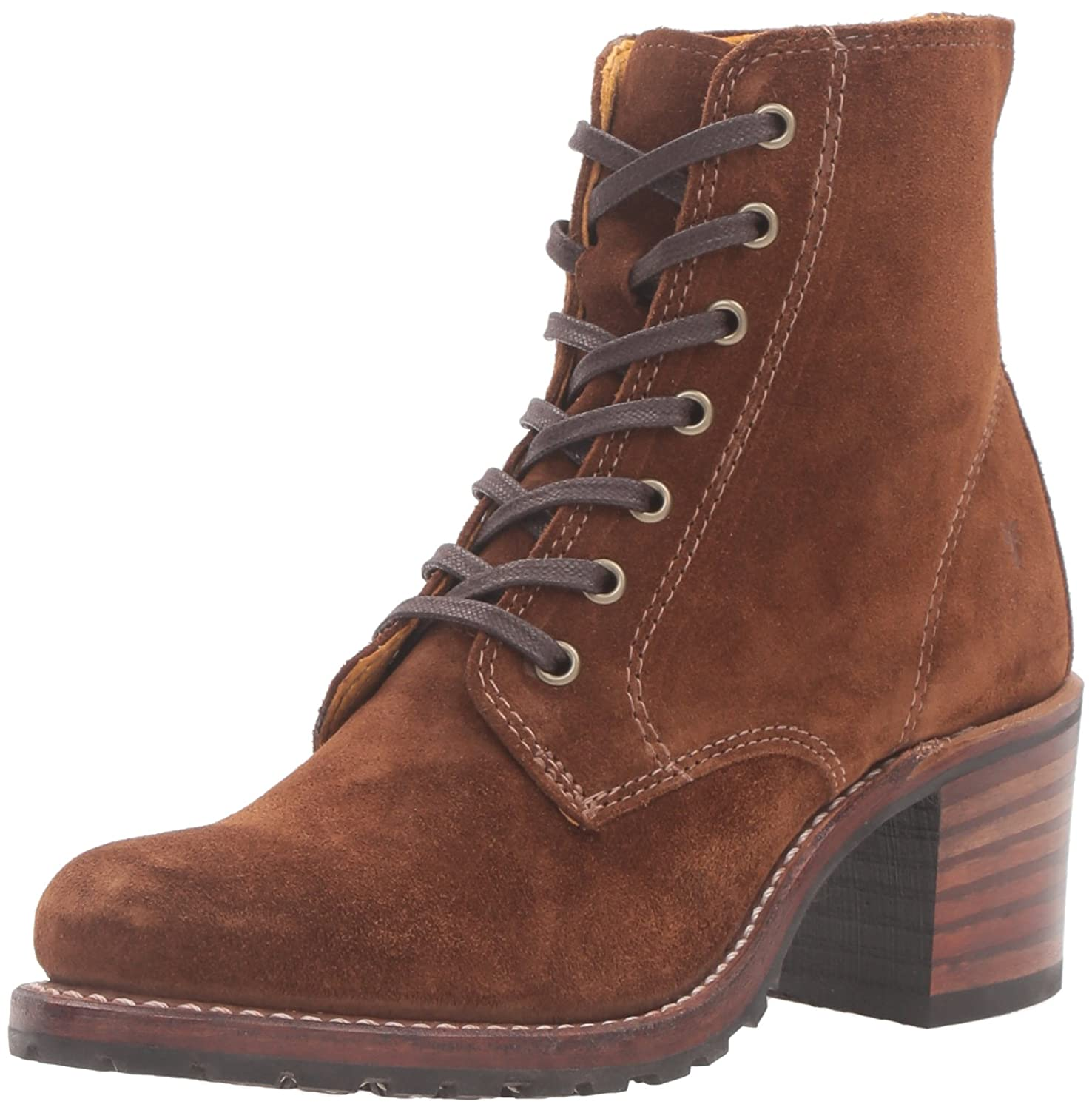 FRYE Women's Sabrina 6G Lace up Suede Boot B0194490R6 7 B(M) US|Wood