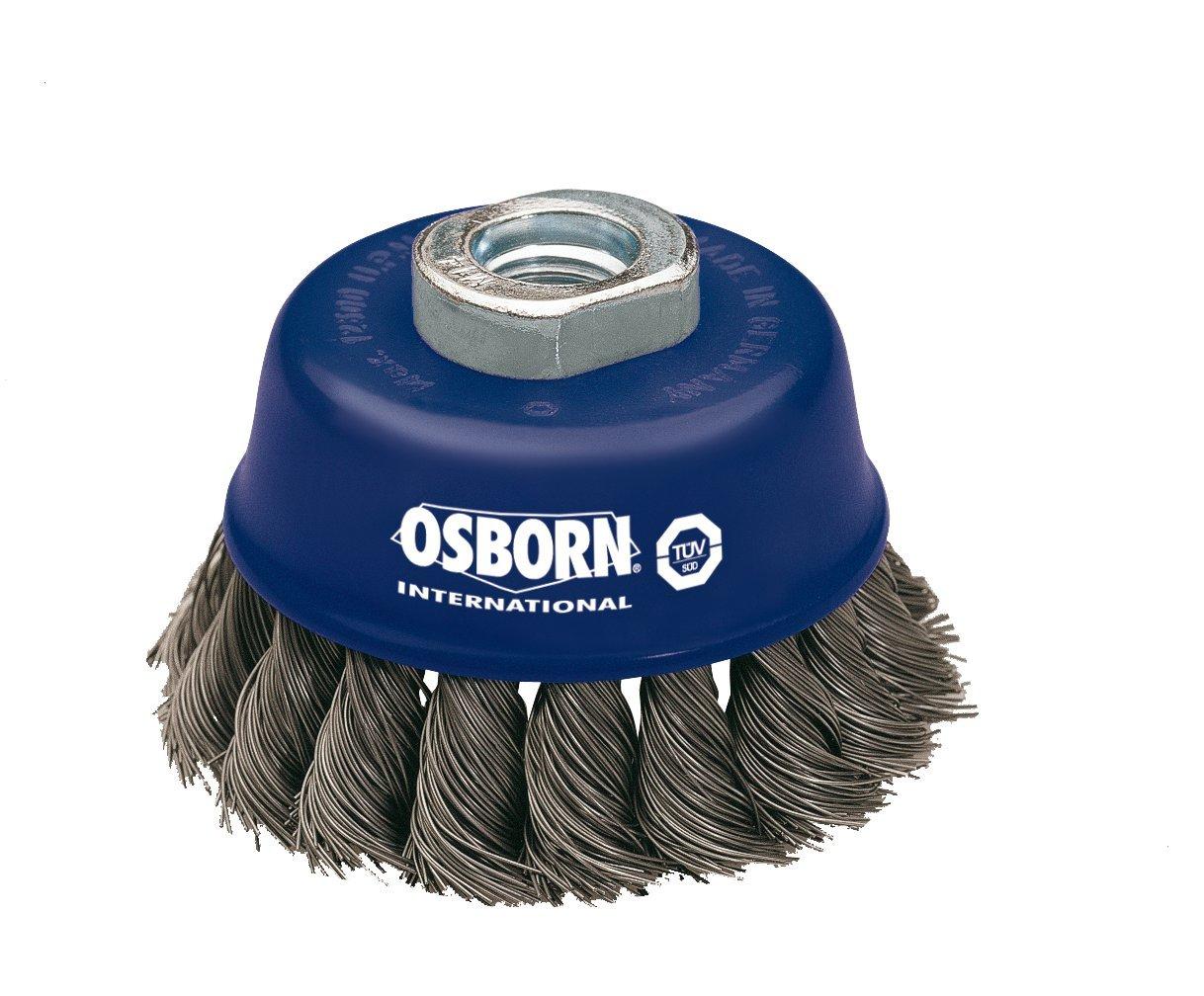 Osborn 2608151 Brosse boisseau pour meuleuse d'angle 115mm Diamètre 65mm Filetage M 14x 2 Fil d'acier ondulé de 0, 50mm Certifiée TÜV bleue 50mm Certifiée TÜV bleue