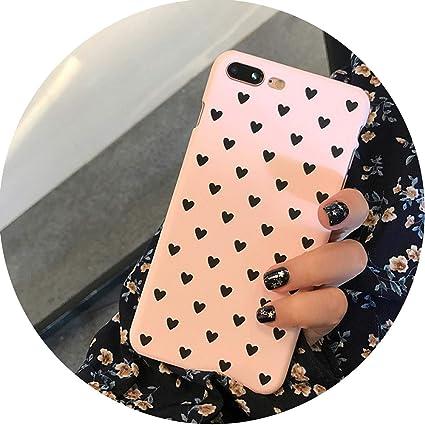 Amazon Com Delicastle For Iphone Case Cover Hard Heart Love Black