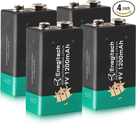 Amazon Com Enegitech 9v Lithium Batteries 1200mah Smoke Detector