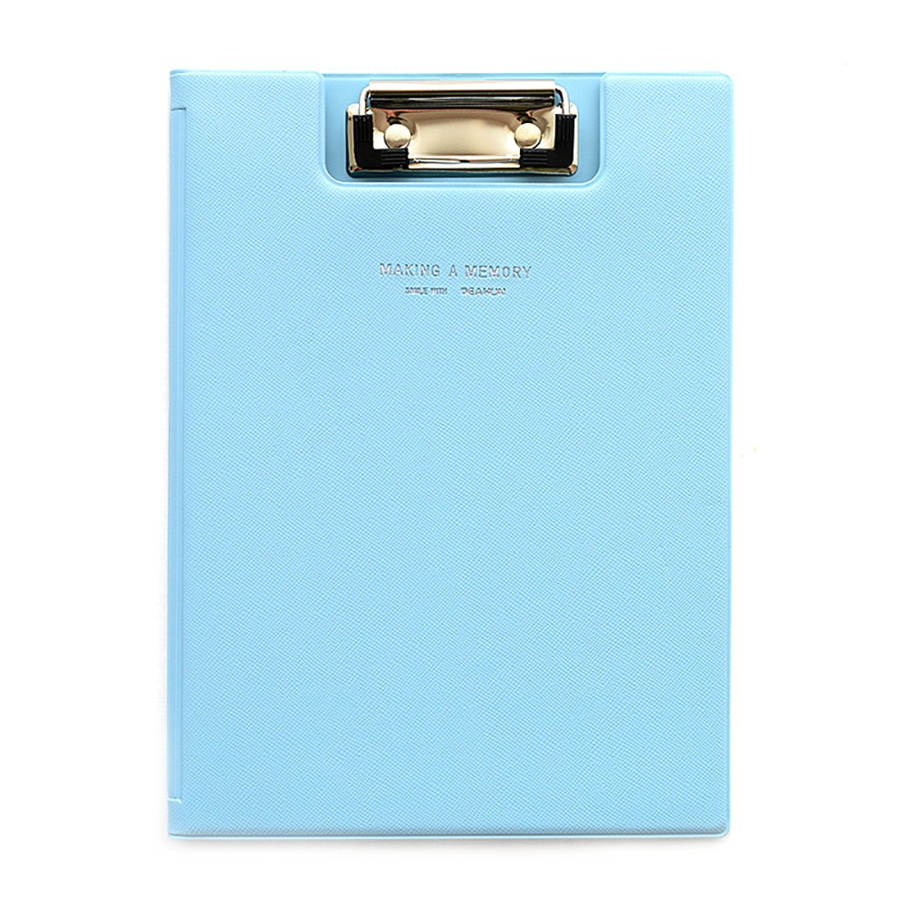 Ya Jin Paper File Clipboard with Cover Documents Clip Holder Organizer Writing Board A5 Size Pink