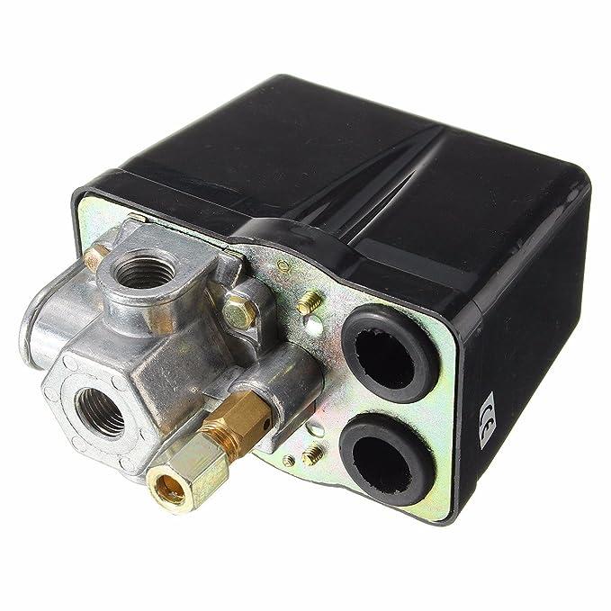 MASUNN 1/4Inch Bsp 380V 160Psi Compresor De Aire Interruptor De Presión De Una Sola Fase Resistente: Amazon.es: Hogar