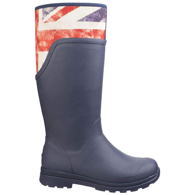 M M US Navy//Vintage Union Jack US Women // 6 D Muck Boot Cambridge Tall Womens Wellies 7 B