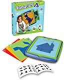 Tangoes Jr. Skill-Building Preschool Tangram Game with Kid-Friendly Portable Carry-Case Featuring 120 Challenges for…