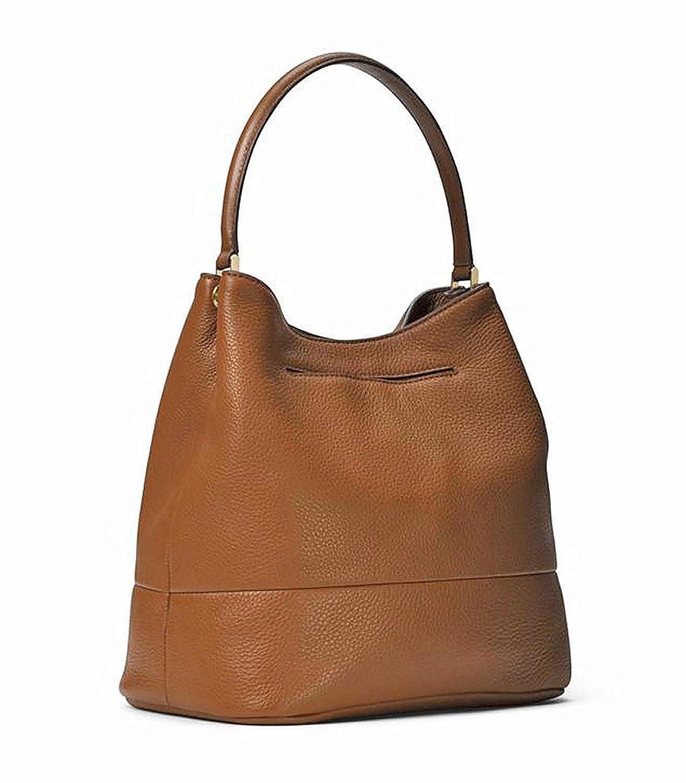 f96165bd32 Amazon.com  MICHAEL Michael Kors Womens Kip Genuine leather Pebbled Bucket  Handbag Tan Large  Clothing